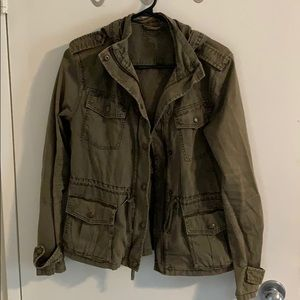 Army green jacket from Aritzia